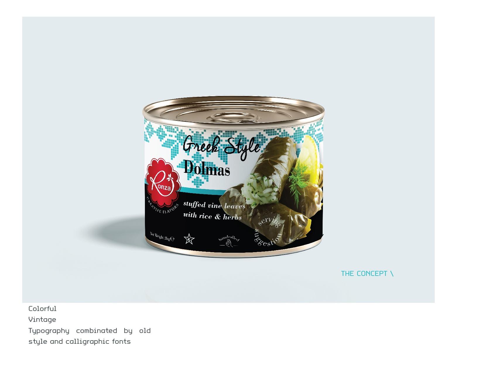 RonzaLTD Vine Leaves with Rice Packaging Presentation-04